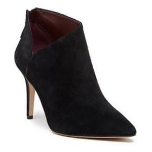 Enzo Angiolini Minimalist Suede Pointed Ankle Boot
